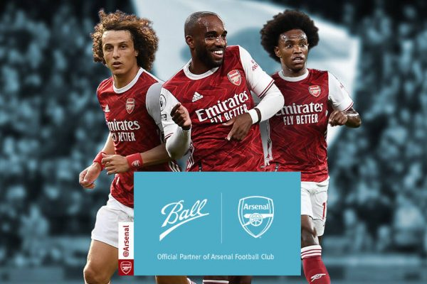 Arsenal signs sustainability partnership with Ball Corporation