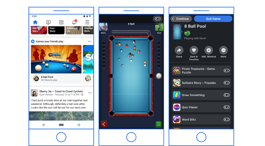 Facebook to migrate Instant Games to the main app