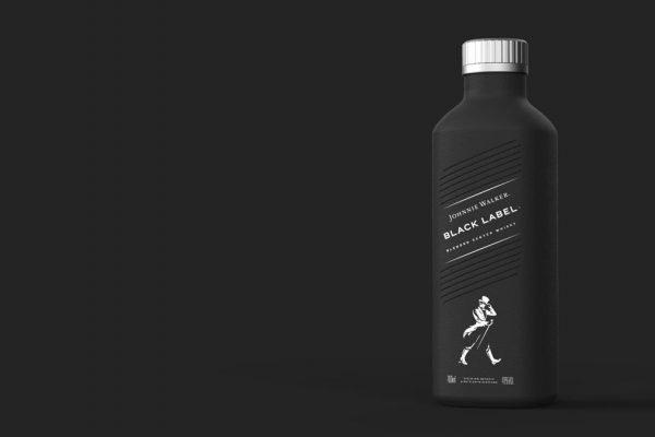 Diageo creates a 100% plastic free paper-based spirits bottle