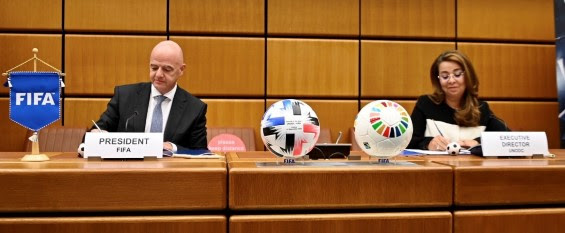 FIFA partners UNODC to address threats posed by crime to sport