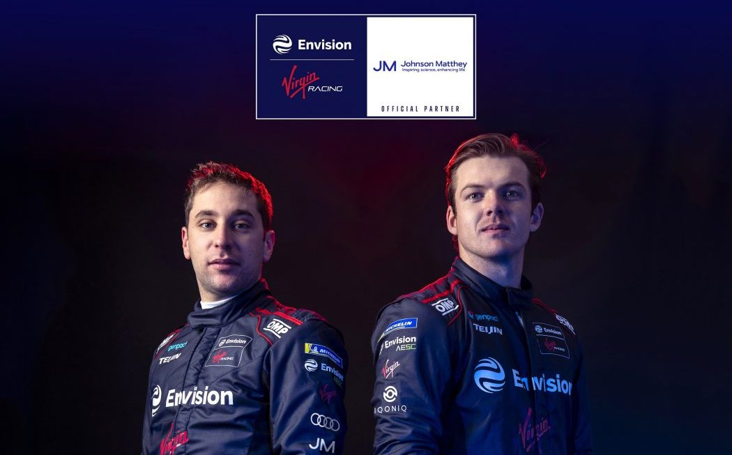 Envision Virgin Racing agrees partnership with sustainable tech brand Johnson Matthey