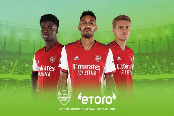 eToro adds Arsenal to its Premier League portfolio